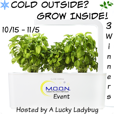 Enter the Cold Outside? Grow Inside! Giveaway. Ends 11/5