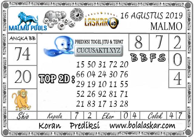 Prediksi Togel Jitu MALMO LASKAR4D 17 AGUSTUS 2019
