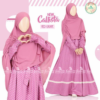 Gamis Fenuza Callista Red Grape