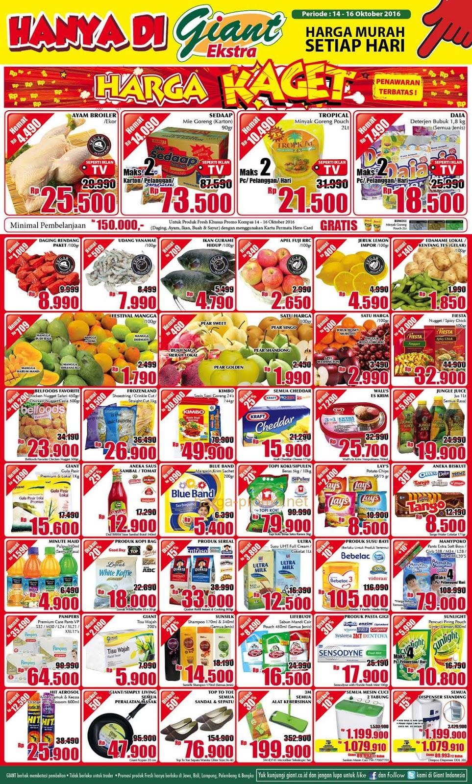 Promo Diskon Supermarket Katalog Promo Jsm Giant Akhir Pekan 14 16 Oktober