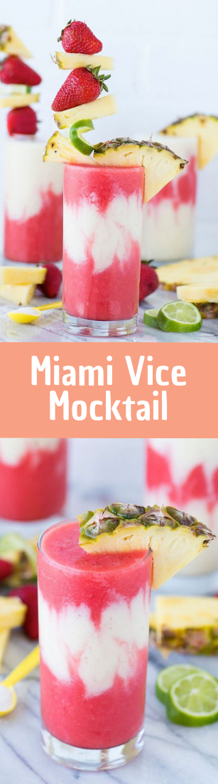 Miami Vice Mocktail #drink #cocktail