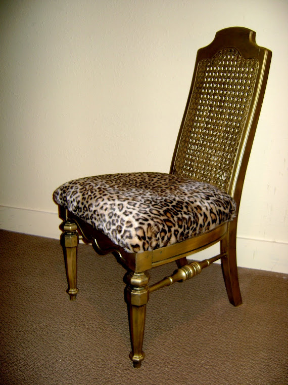 gold & animal print chair