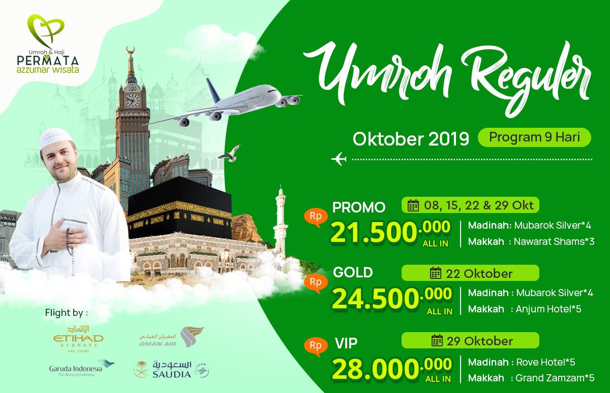 Promo paket Umroh Biaya Murah Jadwal Oktober 2019