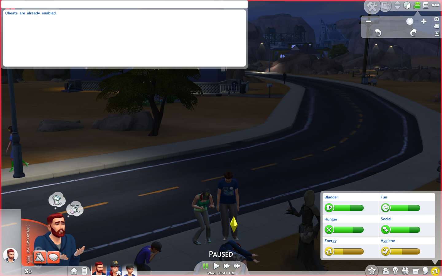 how to start a new household on sims 4