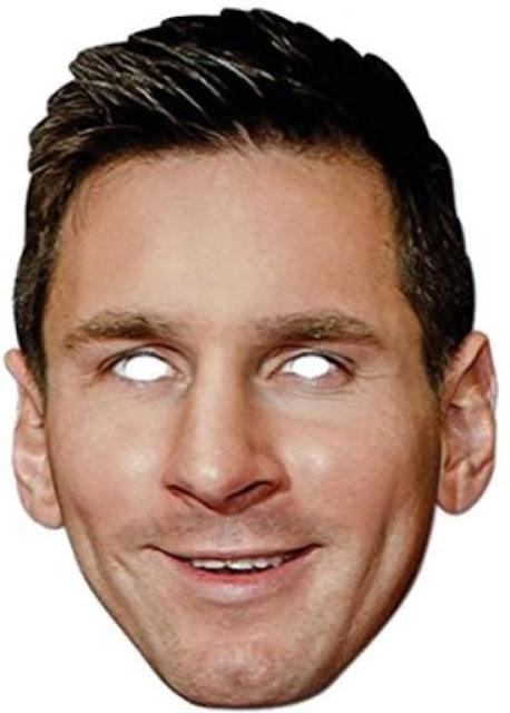 Lionel Messi Free Printable Mask.