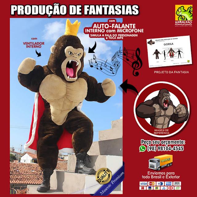 Fantasia de Gorila para vestir - PREÇOS