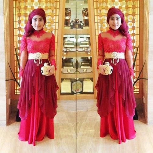 Model Gamis Dan Baju Kebaya Muslim Modis Untuk Ke Pesta Modern