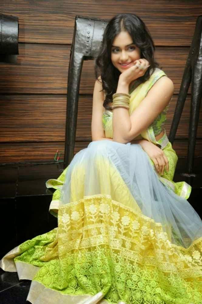 Adah Sharma Hot Half Saree Photos