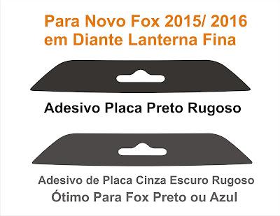 Adesivo traseiro de placa cinza preto rugoso vinil automotivo 2015 2016 em diante clube do carro