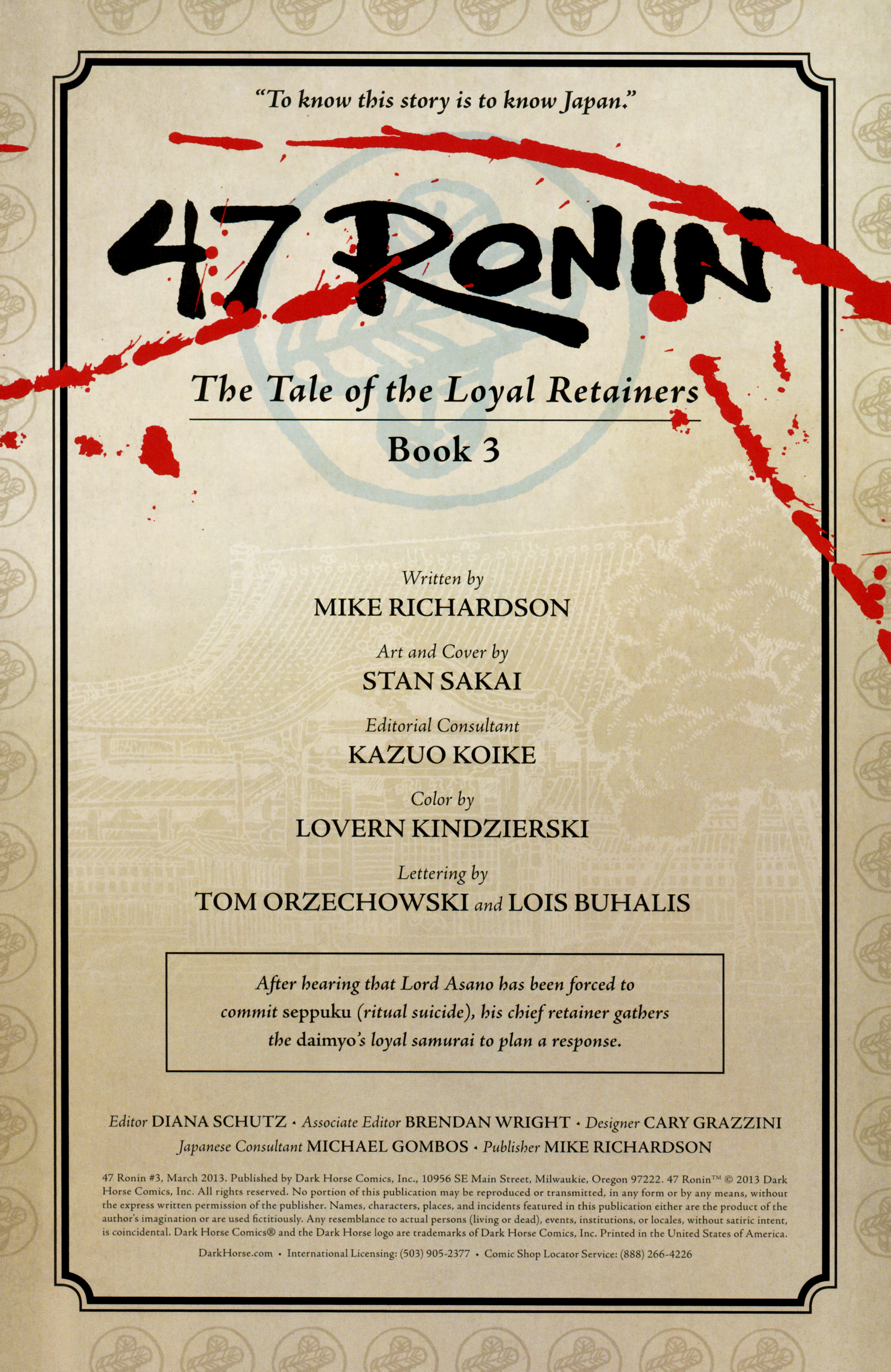 Comic 47 Ronin issue 3