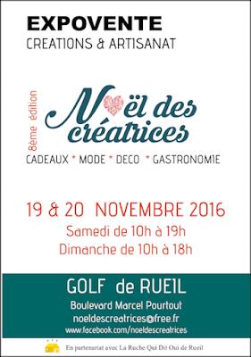 Affiche vente Noel des créatrices - Rueil Malmaison