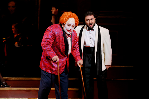 Mongolian baritone Amartuvshin Enkhbat playing Rigoletto and Armenian tenor Liparit Avetisyan playing the Duke of Mantua in Opera Australia's Rigoletto.