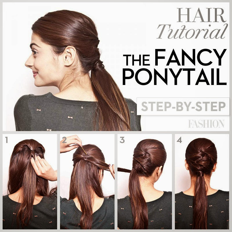 Prom Hair Tutorial Fancy Ponytail For Long Hair Hair