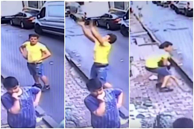 Boy catches Baby falling from second-floor apartment in Turkey | Viral Video