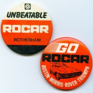 ROCAR Rotherham badges