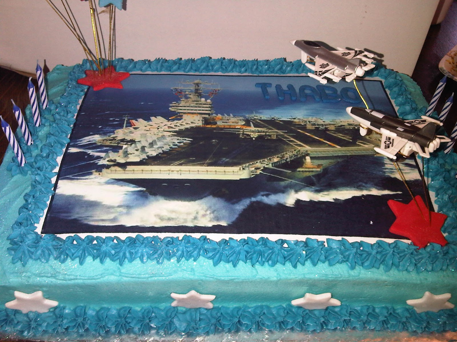 Welcome To Just Iced Aircraft Carrier Cake