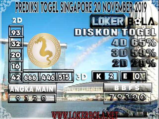 PREDIKSI TOGEL SINGAPORE LOKERBOLA 20 NOVEMBER 2019