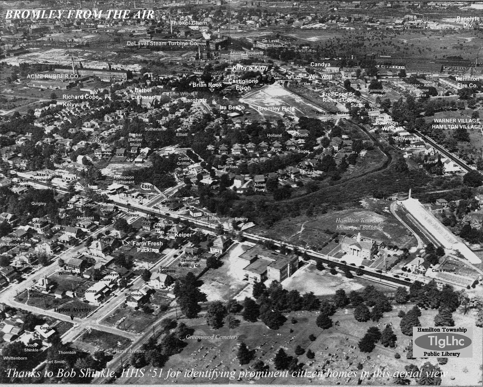LMany Years Ago I Acquired This Incredibly Fascinating Aerial Photo Of My Bromley As Seen By A Pilot Flying Over Greenwood Cemetery And Taking