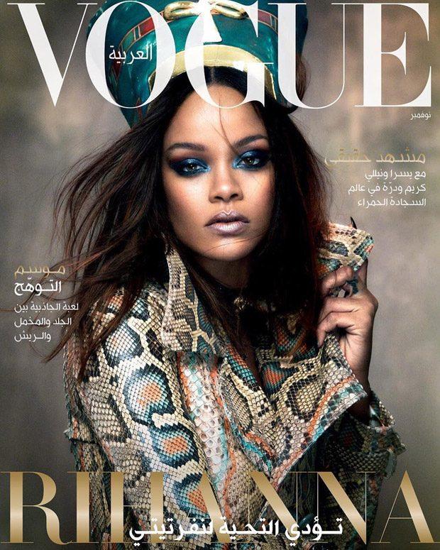 Rihanna sizzles for Vogue Arabia