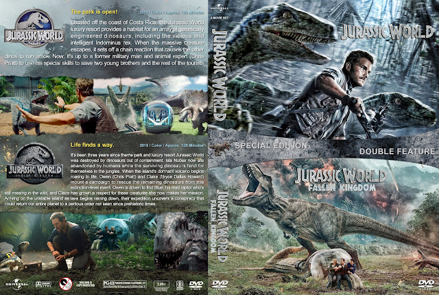 Jurassic World Double Feature DVD Cover