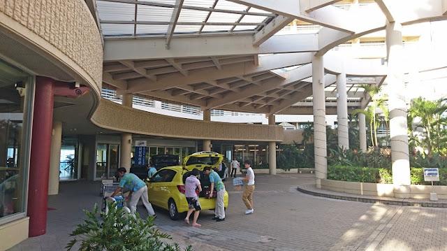 リザンシーパークホテル谷茶ベイのエントランスの写真