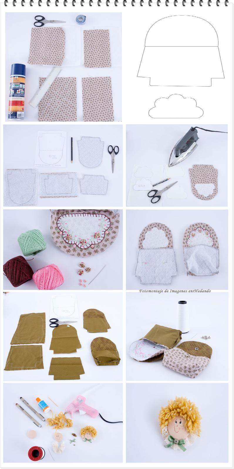 monederos, infantiles, muñecas, labores, costura, diys, manualidades