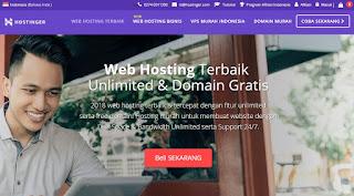 Hostinger Layanan Web Hosting Harga Dengan Terjangkau