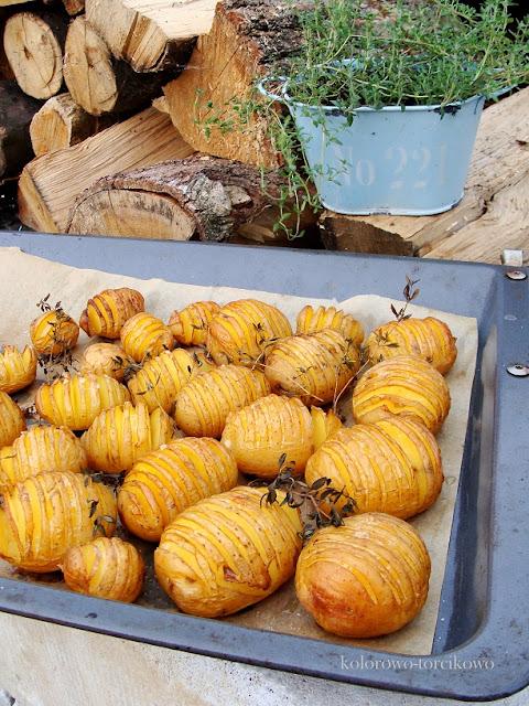 Nacinane pieczone ziemniaczki