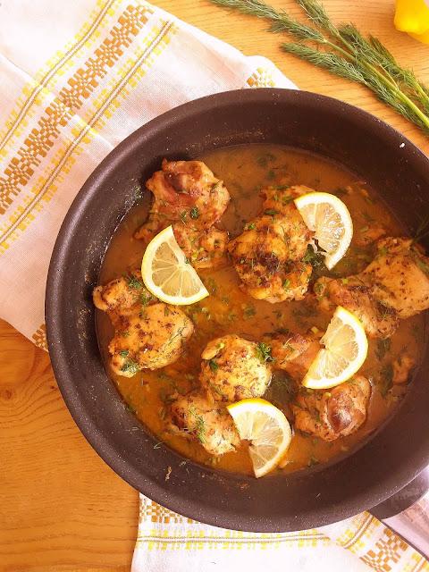 Kurczak w sosie cytrynowym / Lemon Chicken Skillet