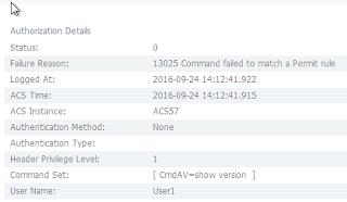Cisco ACS logs