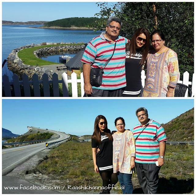 Raashi Khanna Father mother Stills