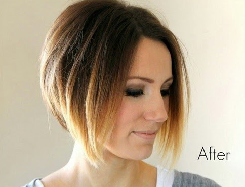 Short Ombre Hairstyle With Chic Look