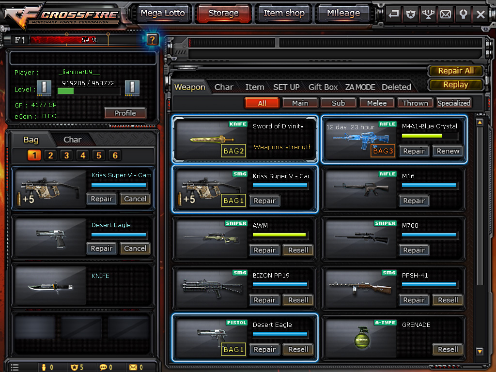 Sold Crossfire Account 1 Bar Silver Ecoin Char Spop Lotto