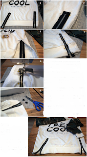 Bluza Fermuar Süsleme Yapımı