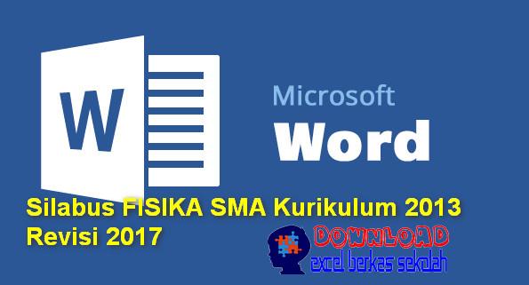 Silabus Fisika SMA Kurikulum 2013 Revisi 2017