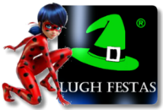 Logo Lugh Festas com a Ladybug