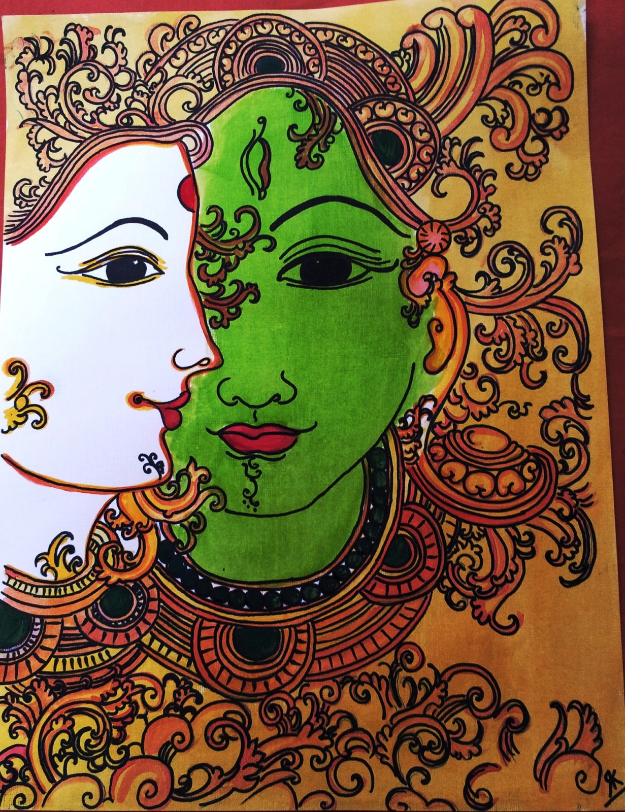 doodles 39 n 39 tangles watercolor mural a mandala. Black Bedroom Furniture Sets. Home Design Ideas