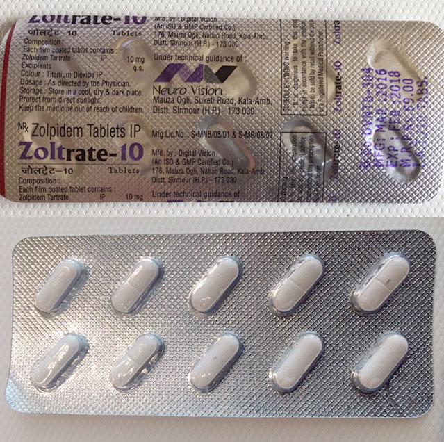 zolpidem medication classifications category