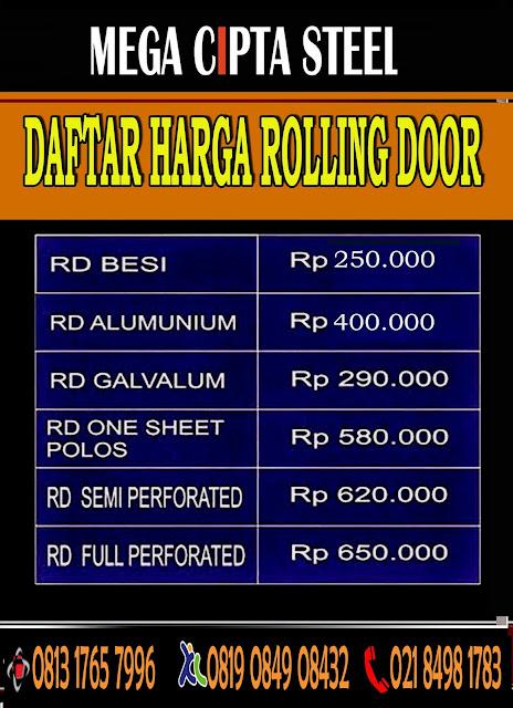 FOLDING GATE PVC PULO GADUNG GEBANG ROLLING DOOR RAWAMANGUN DUREN SAWIT TIGA KLENDER