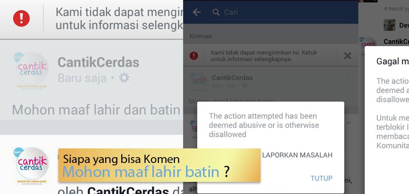 Ketika fb melarang Mohon Maaf Lahir dan Batin