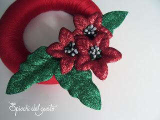 ghirlanda natalizia fai da te con fommy e filato di cotone