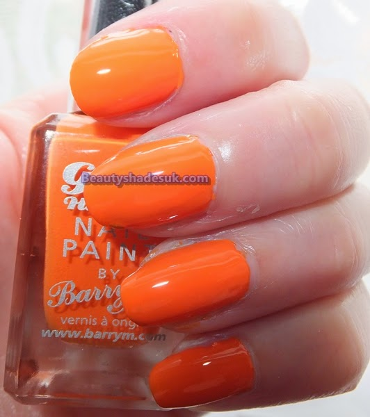 barry m gelly nail paint mango