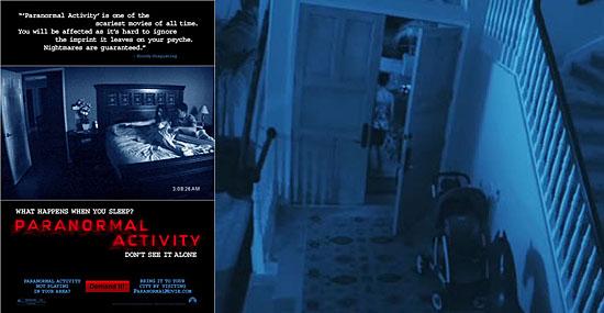 Filme Atividade Paranormal - Capa e cena