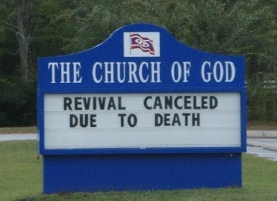 Revival canceled due to death