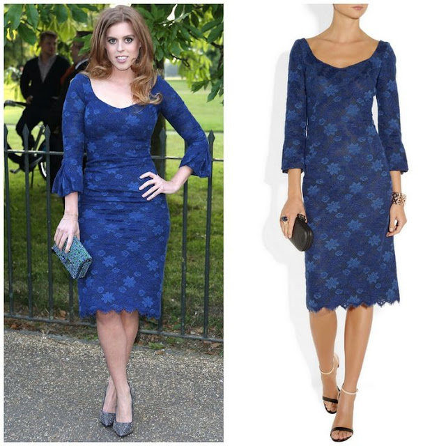 Princess Beatrice in L'Wren Scott Dress