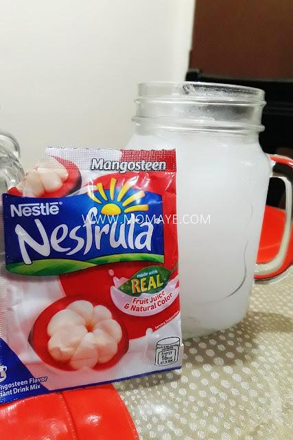 Nesfruta Mangosteen juice, summer refreshment, fruit juice