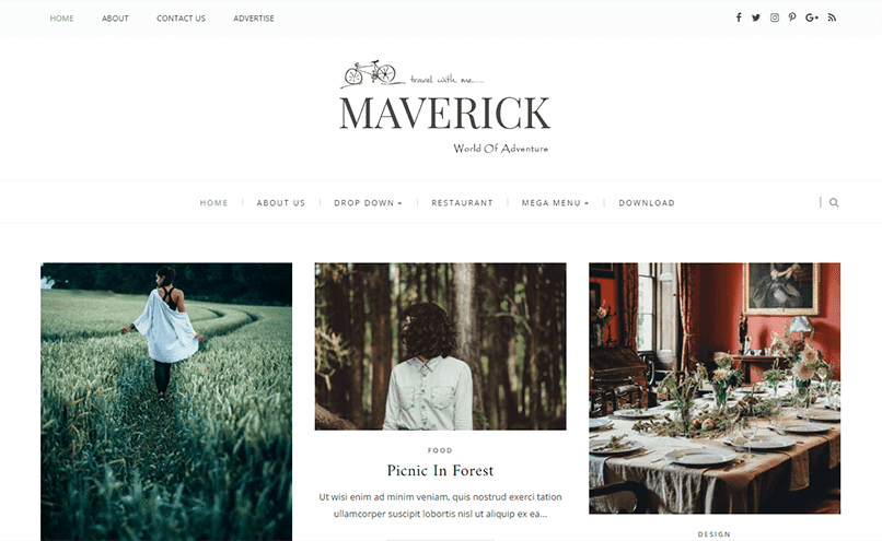 Maverick Kişisel Blogger Teması