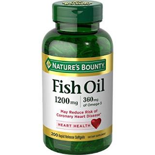 Thực phẩm chức năng của Mỹ hỗ trợ mắt và tim mạch Nature bounty Fish Oil