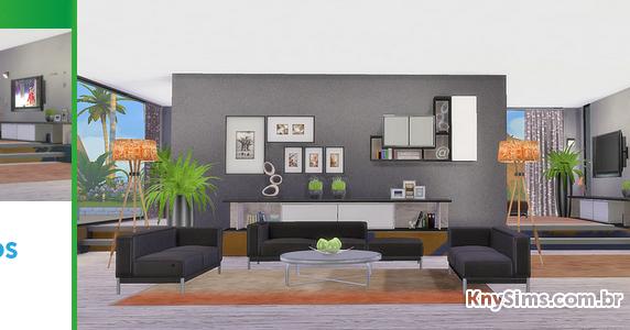 Download sala de estar living grace para the sims 4 knysims for Sala de estar sims 4
