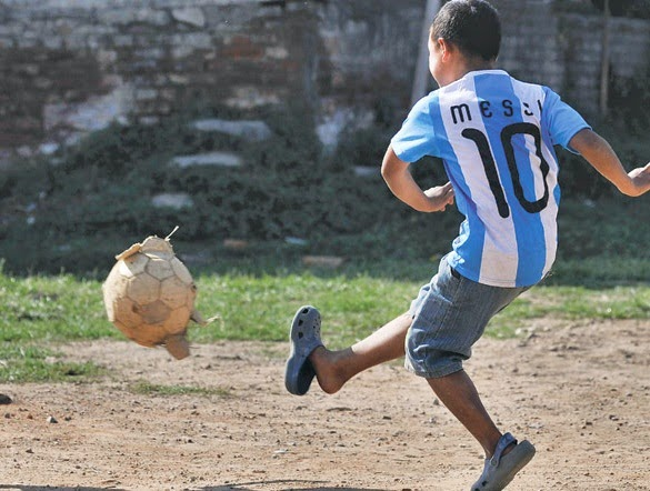 Little Boy in Argentinian Jersey